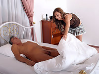 Horny chambermaid
