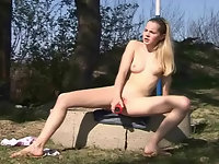 Outdoors with a vibrator