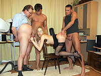 A foursome with the secretary