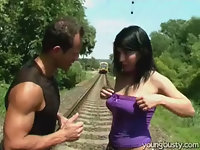 Screwed at the railway line