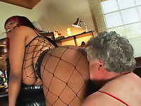 Fishnet Facesitting Mistress