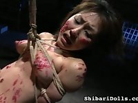 Japanese men that partake in these kinds of bondage videos are always fucked up in the head. I wont go through all the details, but one of the men kills someone, with his lover watching. He then takes her, and has her before unspeakable act after unspeakable act, all in a way for him to try to cleanse himself of this sin. He was going to be the new master of her, and she could do nothing but comply, since her love had died. She was now his servant.