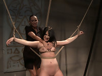 Naomie, tied in the Mistress dungeon, acts as her mighty domina Mandy commands. Her ass, her tits, her pussy, her all body owned and controlled by the Mistress. She moans when Mandy wants, she cums when Mandy wants, or she suffers when Mandy wants. She is owned, and the Mistress will do to her whatever she wants.