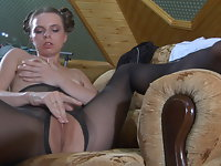 Kitty pantyhose tease video