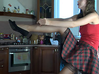Dolores in awesome pantyhose video