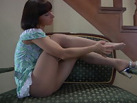 Mireille in pantyhose movie