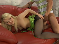 Connie and David  naughty pantyhose video