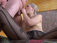Mary and Jack live pantyhose show