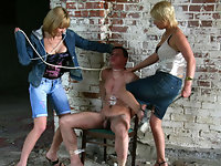 Femdom slave gets beaten up