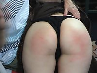 A traditional over the knee spanking