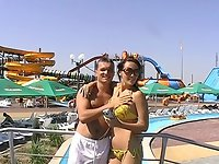 Couples porn from aqua park