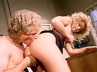 Classic porn video featuring hot blonde chick