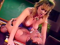 Classic 80s porn video with John Leslie
