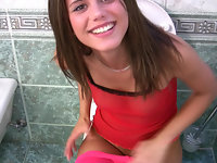 Real amateur POV video with hot teen Little Caprice