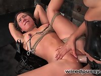 Lesbian Amateur gets dominated and fucked