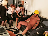 Three women find out beefy fireman has a small hose