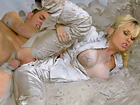 Blonde girl mud fucked