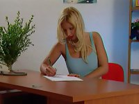 sweety blonde office babe