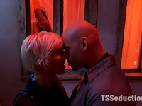 TS Danni Daniels fucks a Straight Couple in:<br> The Red Light Restricted