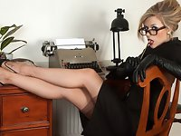 Michelle Moist - Ravenous in the office.